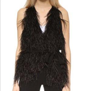 Elizabeth & James Ostrich Xiomara Feather Vest
